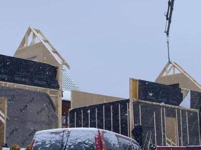 budowa domów zimą